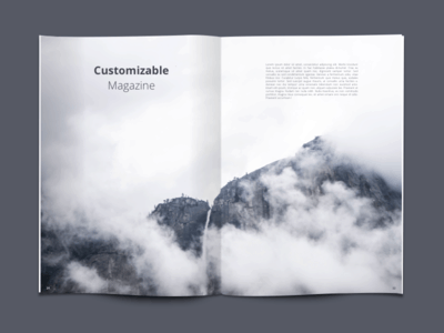 Customizable Magazine psd