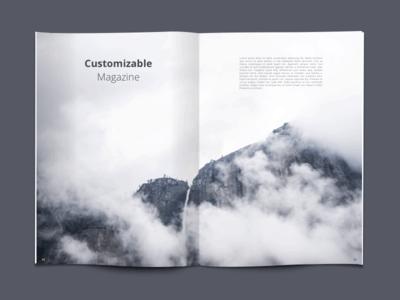 Customizable Magazine psd