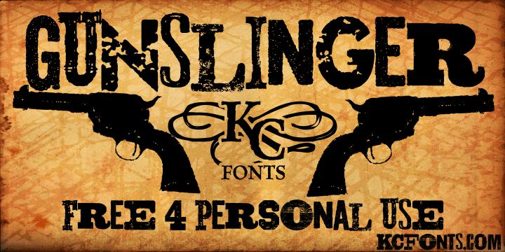 Gunslinger font