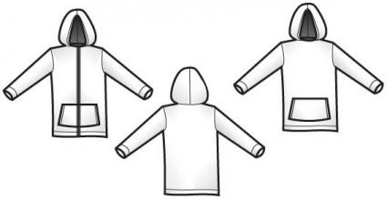 Hoodie Design Vector Template FREE