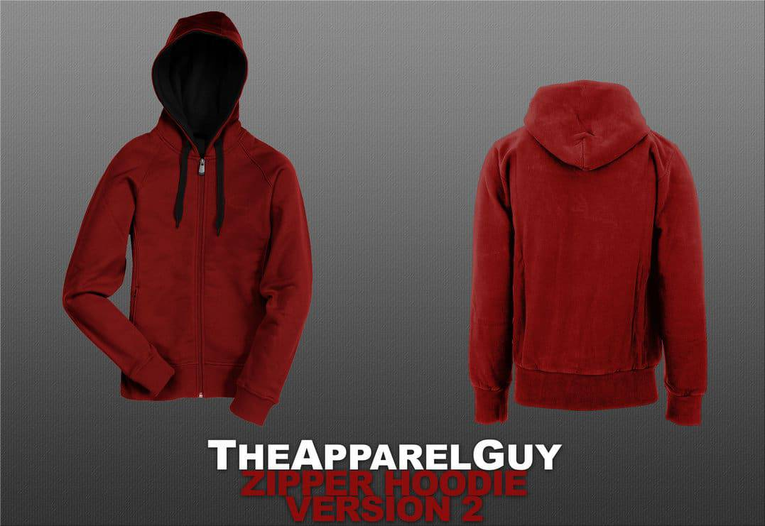 Womend zipper hoodie psd