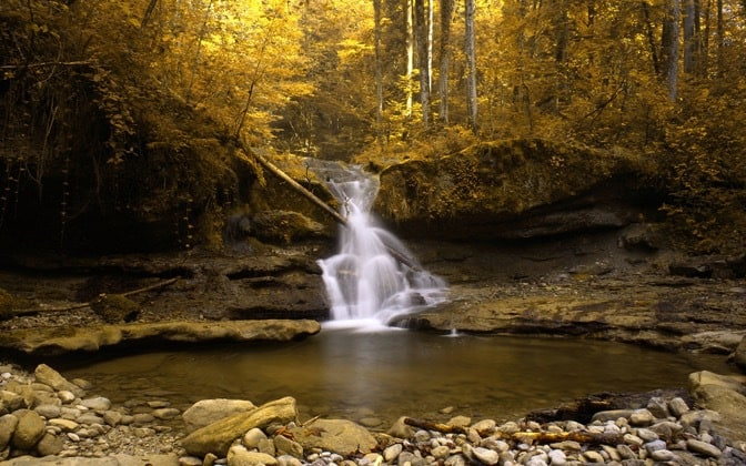 autumn waterfall wallpapers