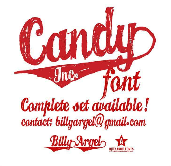 candy ink font