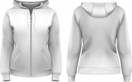clothes_hoodie_zipper_template_vector