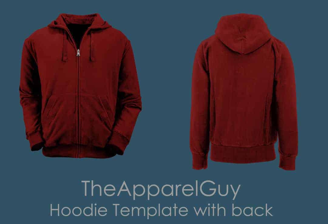 front and back hoodie emplate