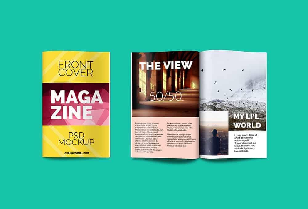 magazine mockup in PSD format