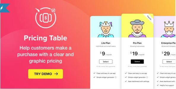 Pricing Table WordPress Plugins