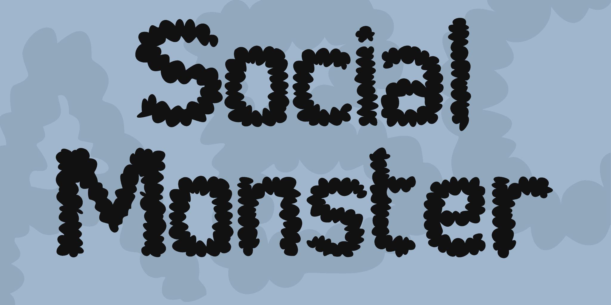 social-monster-font