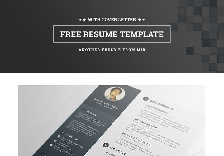 Cover Letter Free Resume TEmplate