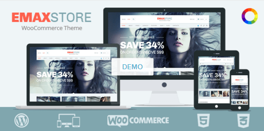 EmaxStore Ecommerce WordPress Template