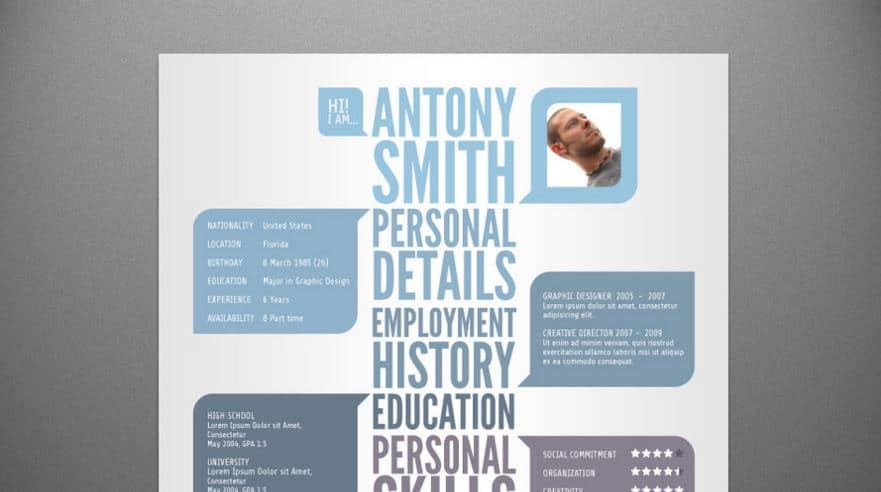30  awesome psd portfolio and resume templates