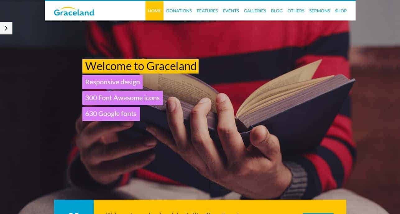 Graceland Church Theme