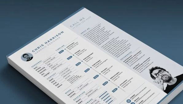 Ikono me free resume template