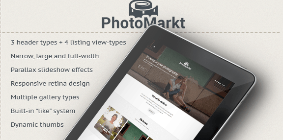 PhotoMarket WordPress Theme
