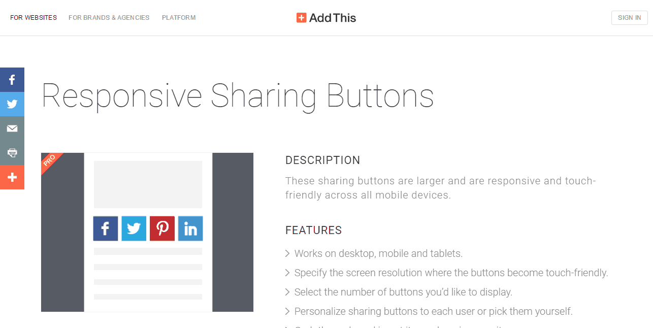 Responsive Sharing Buttons AddThis