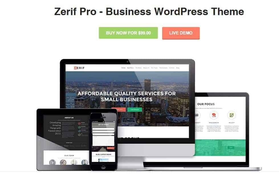 Zerif Pro Business WordPress Theme