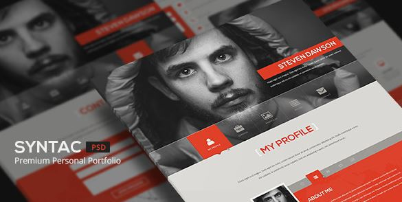 syntac flat personal portfolio template
