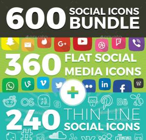 600 social icons
