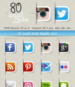 80 social icons