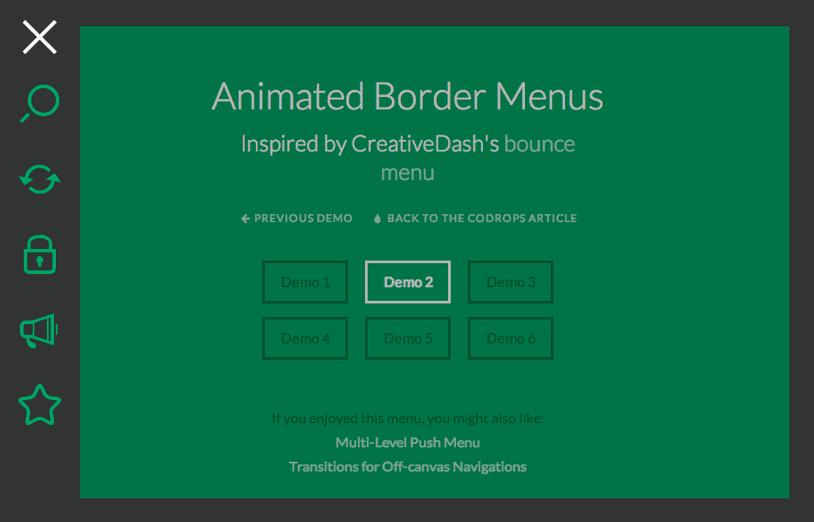 Animated Border Menu