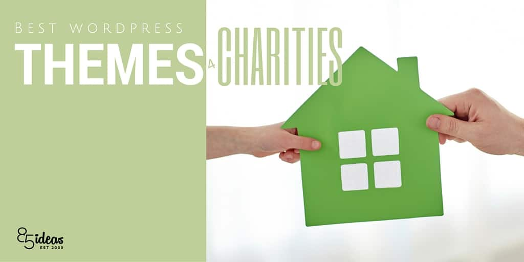 green house on white background illustration with two hands charity WordPress themes