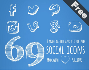 Handcrafted Social Icons