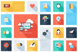 Longshadow Social Media Icons