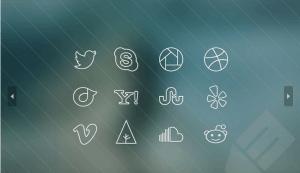 Ultra-Thin Social Media Icons
