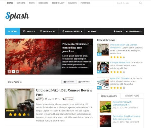 2-Splash Best Amazon Affiliate WordPress Themes
