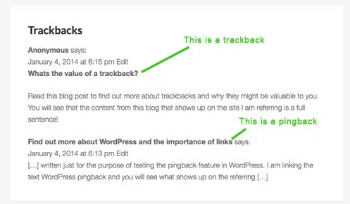 about Trackbacks and Pingbacks of WordPress1
