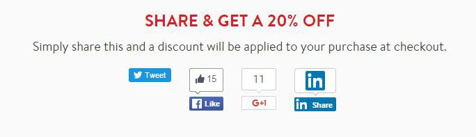 share and get 20% off