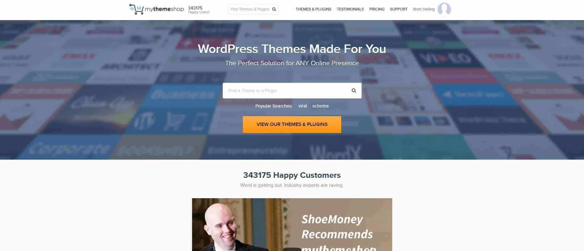 Mythemeshop screenshot of homepage for the best MyThemeShop themes of 2016