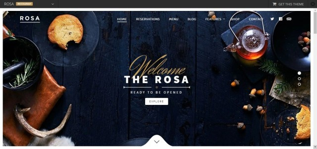 1-ROSA- An exquisite Restaurant WordPress Theme