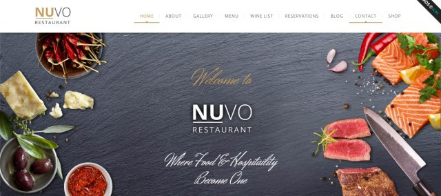 12-NUVO - Cafe & Restaurant WordPress Theme - Multiple Restaurant & Bistro Demos