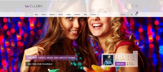 8-Clubix - Nightlife, Music & Events WordPress Theme