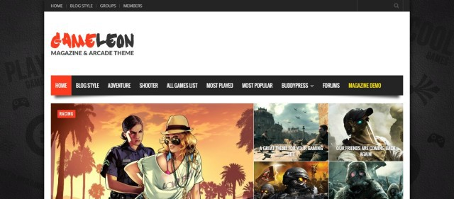 9-Gameleon - WordPress Magazine & Arcade Theme