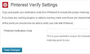 Pinterest verify