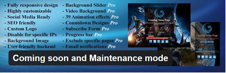 Coming Soon and Maintenance Mode