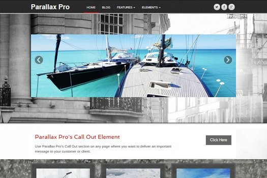 Parallax Pro WordPress Theme