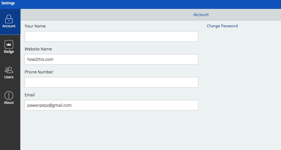 SumoMe Configuration