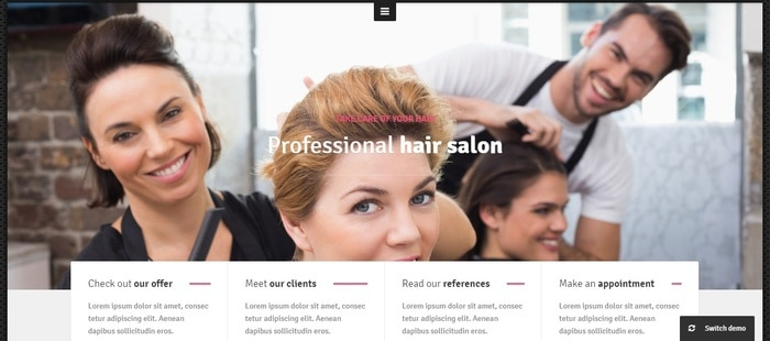 WordPress Themes for Salons