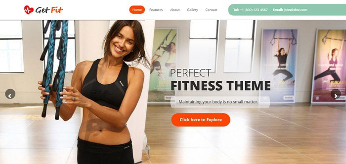 GetFit - Gym Fitness Multipurpose Crossfit WordPress Themes