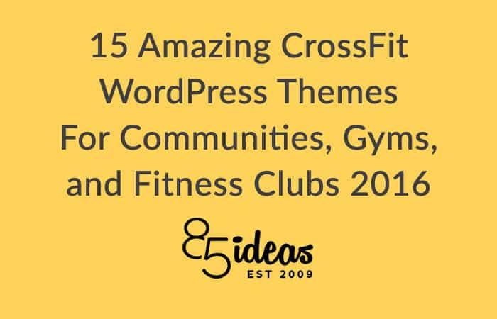 Amazing crossfit, gym wordpress themes