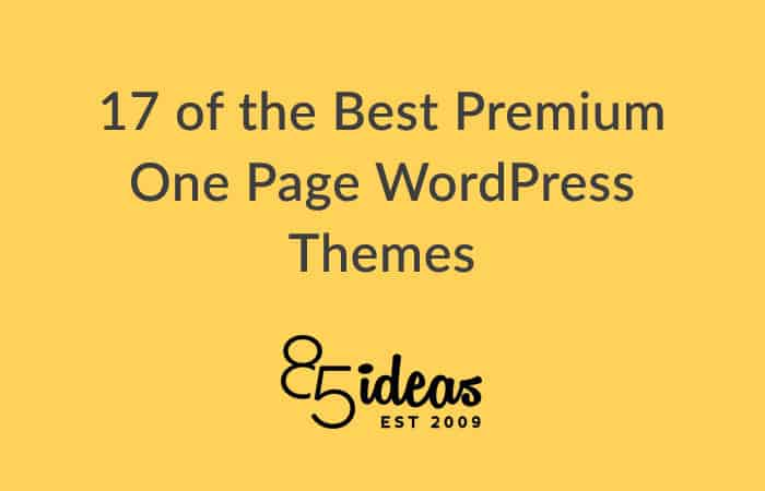 Best premium one page wordpress themes