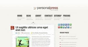 PersonalPress WP Theme