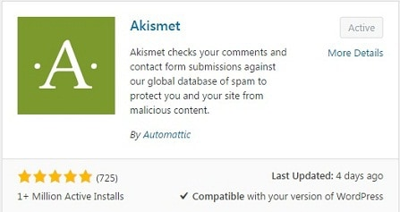 Akismet-Wordpress-Plugin