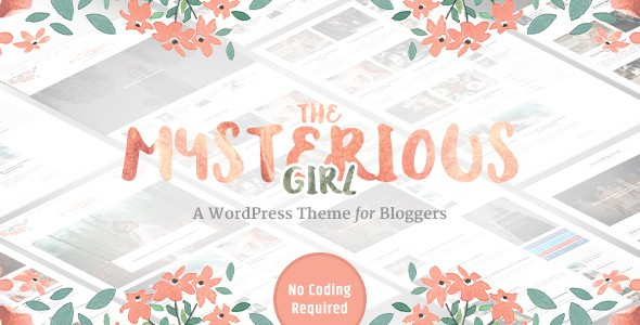 mysterious girl wp theme