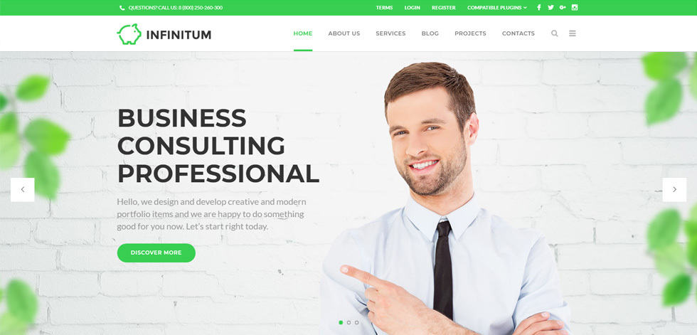 wordpress flat design theme