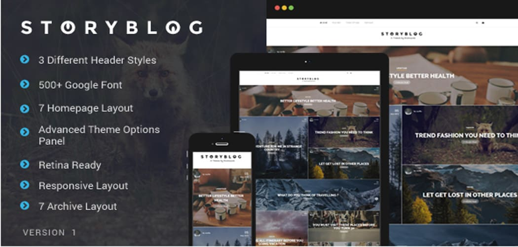 Storytelling WordPress Themes