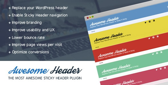 awesome header - sticky header plugin